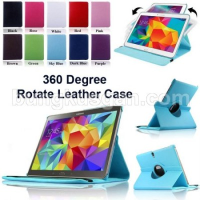 ^ Samsung Galaxy Tab S 10.5 T800 - Rotary Leather Case }