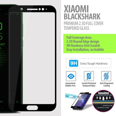 ^ Xiaomi Black Shark - Premium 2.5D Full Cover Tempered Glass