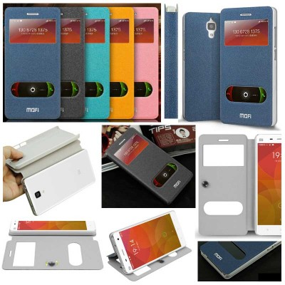 ^ Xiaomi Mi4 - Mofi Window Hui Series Leather Case (Hard Case Inside)