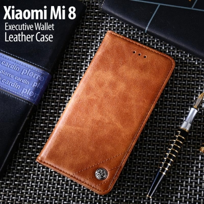 ^ Xiaomi Mi 8 / Mi8 - Executive Wallet Leather Case