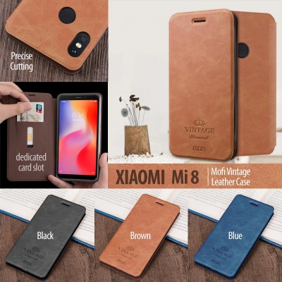 ^ Xiaomi Mi 8 / Mi8 - Mofi Vintage Leather Case