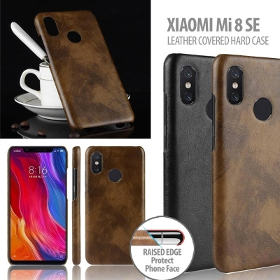 ^ Xiaomi Mi 8 SE / Mi8 SE - Leather Covered Hard Case