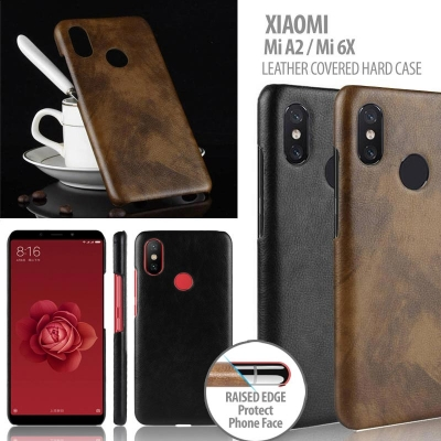 ^ Xiaomi Mi A2 / Mi 6X - Leather Covered Hard Case