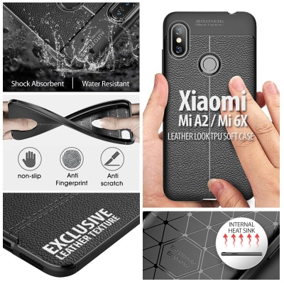 ^ Xiaomi Mi A2 / Mi 6X - Leather Look TPU Soft Case