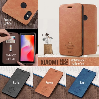 ^ Xiaomi Mi A2 / Mi 6X - Mofi Vintage Leather Case