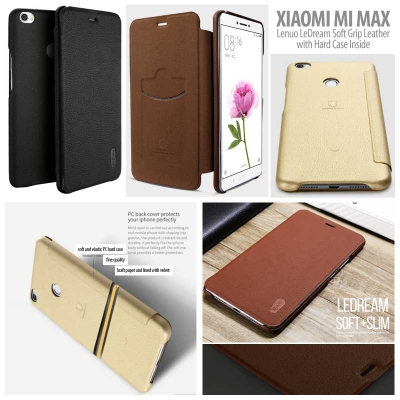 ^ Xiaomi Mi Max - Lenuo LeDream Soft Grip Leather with Hard Case Inside