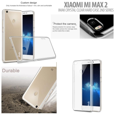^ Xiaomi Mi Max 2 - Imak Crystal Clear Hard Case 2nd Series }