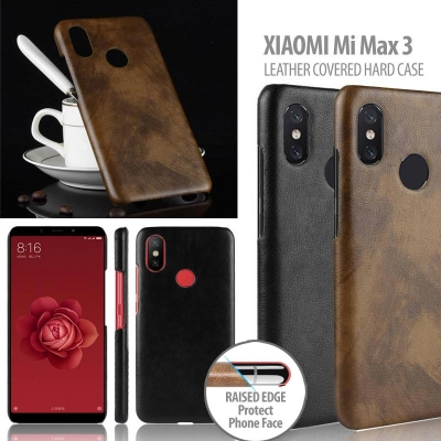 ^ Xiaomi Mi Max 3 - Leather Covered Hard Case