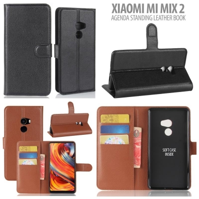 * Xiaomi Mi Mix 2 - Agenda Standing Leather Book }