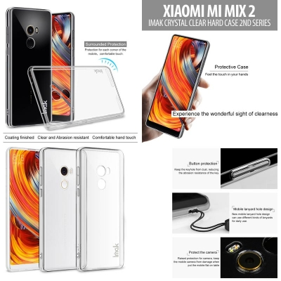 ^ Xiaomi Mi Mix 2 - Imak Crystal Clear Hard Case 2nd Series }