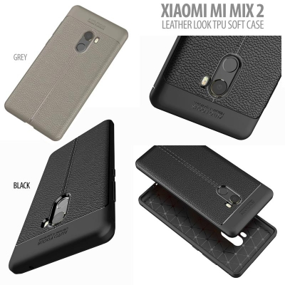 ^ Xiaomi Mi Mix 2 - Leather Look TPU Soft Case }
