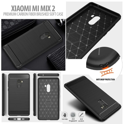 ^ Xiaomi Mi Mix 2 - PREMIUM Carbon Fiber Brushed Soft Case }
