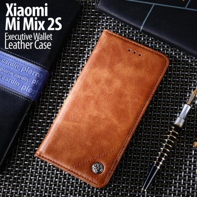 ^ Xiaomi Mi Mix 2S - Executive Wallet Leather Case