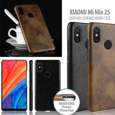 ^ Xiaomi Mi Mix 2S - Leather Covered Hard Case