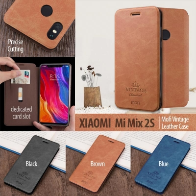 ^ Xiaomi Mi Mix 2S - Mofi Vintage Leather Case