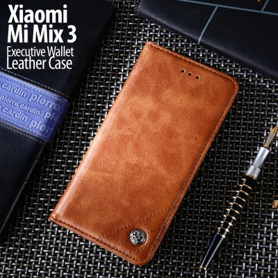 ^ Xiaomi Mi Mix 3 - Executive Wallet Leather Case