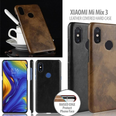 ^ Xiaomi Mi Mix 3 - Leather Covered Hard Case