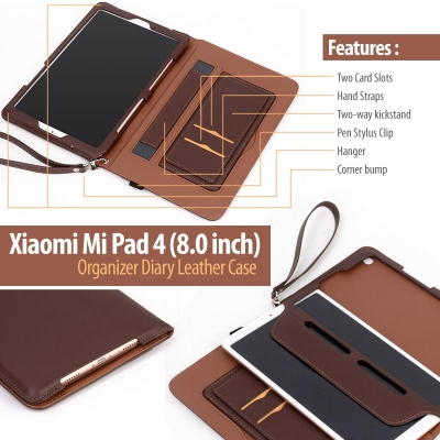 ^ Xiaomi Mi Pad 4 8.0 inch - Organizer Diary Leather Case