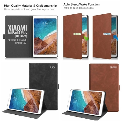 ^ Xiaomi Mi Pad 4 Plus 10.1 inch - Side Lock Auto Wake Leather Case