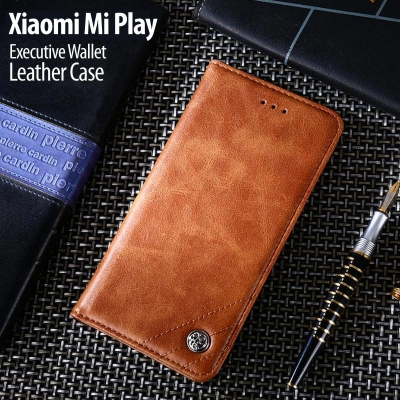^ Xiaomi Mi Play - Executive Wallet Leather Case