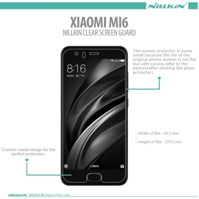 ^ Xiaomi Mi6 - Nillkin Clear Screen Guard }