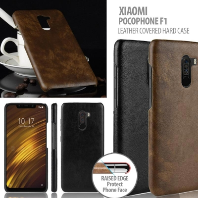 ^ Xiaomi Pocophone F1 - Leather Covered Hard Case