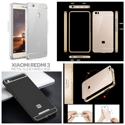 ^ Xiaomi RedMi 3 / RedMi 3X  - Metal Slide Hard Case
