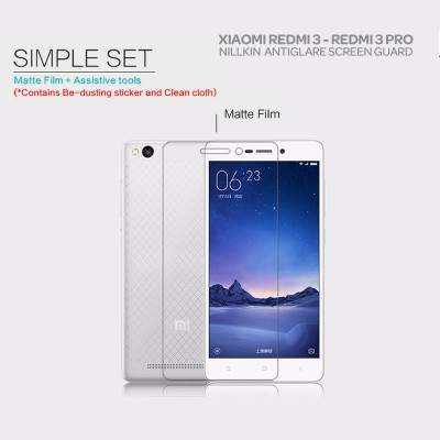 ^ Xiaomi RedMi 3 Pro / RedMi 3 / RedMi 3X - Nillkin Antiglare Screen Guard
