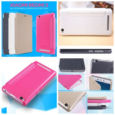 ^ Xiaomi RedMi 3 / RedMi 3X  - Nillkin Sparkle Leather Case