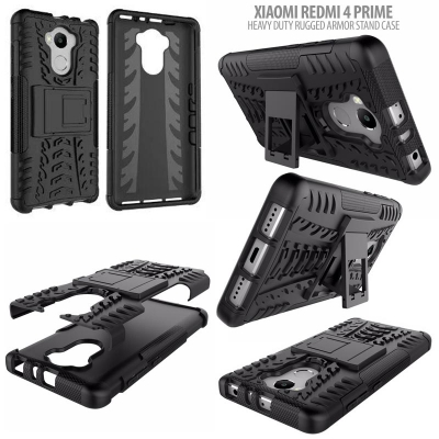 ^ Xiaomi Redmi 4 Prime - Heavy Duty Rugged Armor Stand Case