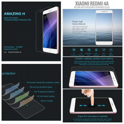 ^ Xiaomi Redmi 4A - Nillkin Anti-Explosion H Tempered Glass Screen Protector