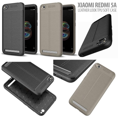 ^ Xiaomi Redmi 5A - Leather Look TPU Soft Case }