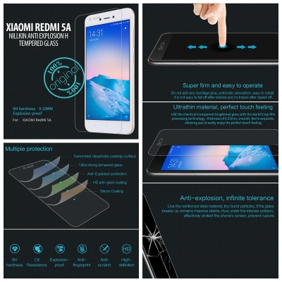 ^ Xiaomi Redmi 5A - Nillkin Anti-Explosion H Tempered Glass Screen Protector }