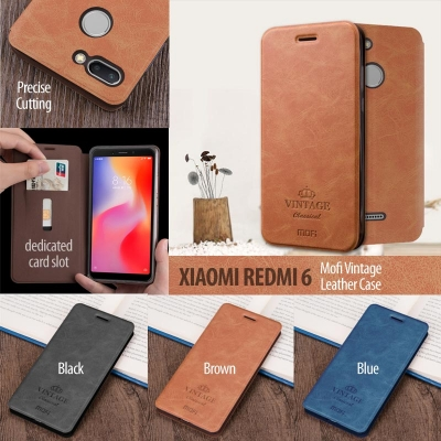 ^ Xiaomi Redmi 6 / Redmi 6A - Mofi Vintage Leather Case