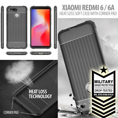 ^ Xiaomi Redmi 6 / Redmi 6A - Heat Loss Soft Case with Corner Pad