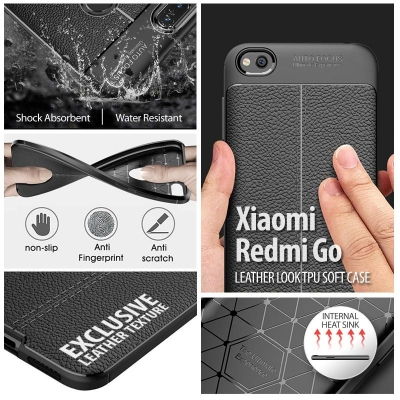 ^ Xiaomi Redmi Go - Leather Look TPU Soft Case