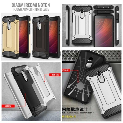 ^ Xiaomi Redmi Note 4 / Redmi Note 4X - Tough Armor Hybrid Case