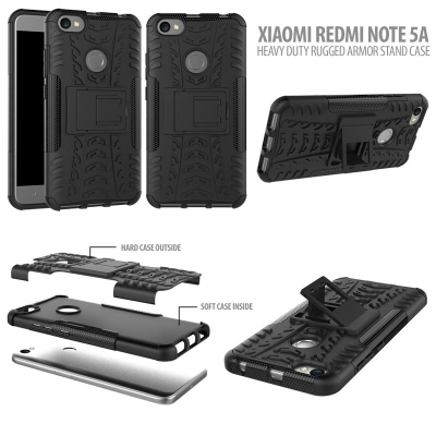 ^ Xiaomi Redmi Note 5A - Heavy Duty Rugged Armor Stand Case }