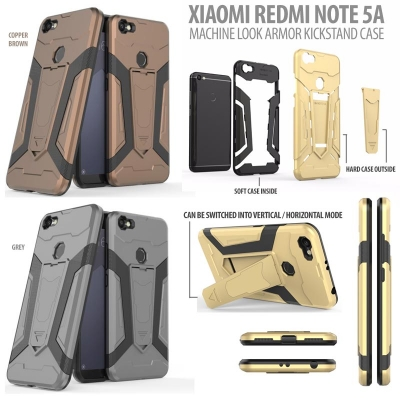 * Xiaomi Redmi Note 5A - Machine Look Armor Kickstand Case }