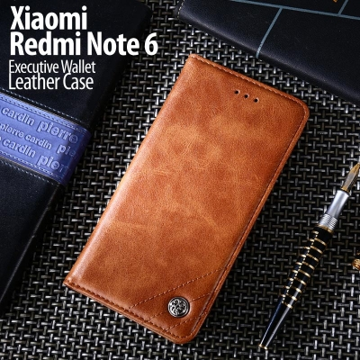 ^ Xiaomi Redmi Note 6 Pro - Executive Wallet Leather Case