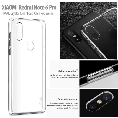 ^ Xiaomi Redmi Note 6 Pro - IMAK Crystal Clear Hard Case Pro Series