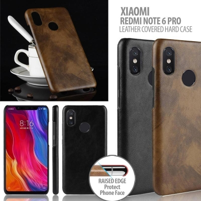 ^ Xiaomi Redmi Note 6 Pro - Leather Covered Hard Case