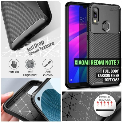 ^ Xiaomi Redmi Note 7 - Full Body Carbon Fiber Soft Case