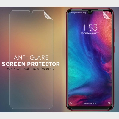 ^ Xiaomi Redmi Note 7 - Nillkin Antiglare Screen Guard