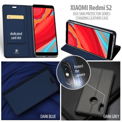 ^ Xiaomi Redmi S2 - DUX Skin Protector Series Standing Leather Case