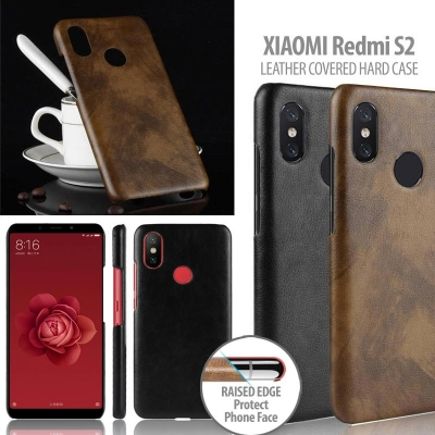 ^ Xiaomi Redmi S2 - Leather Covered Hard Case