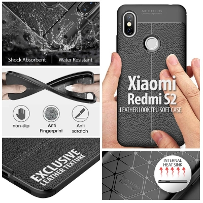 ^ Xiaomi Redmi S2 - Leather Look TPU Soft Case