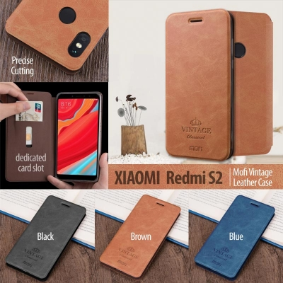^ Xiaomi Redmi S2 - Mofi Vintage Leather Case