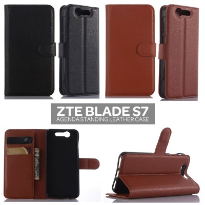 * ZTE Blade S7 - Agenda Standing Leather Book