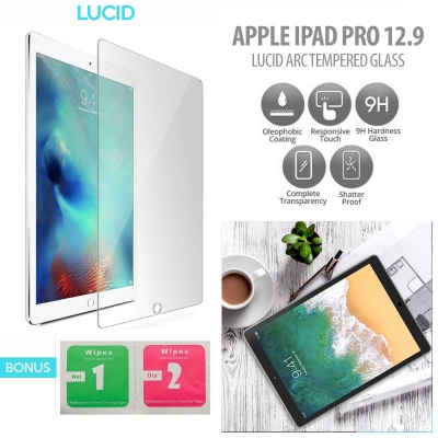 ^ iPad Pro 12.9 Inch - Lucid Arc Tempered Glass }